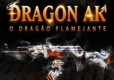 Free Fire Pegando a Skin o Dragão Flamejante (Ak47) ao vivo